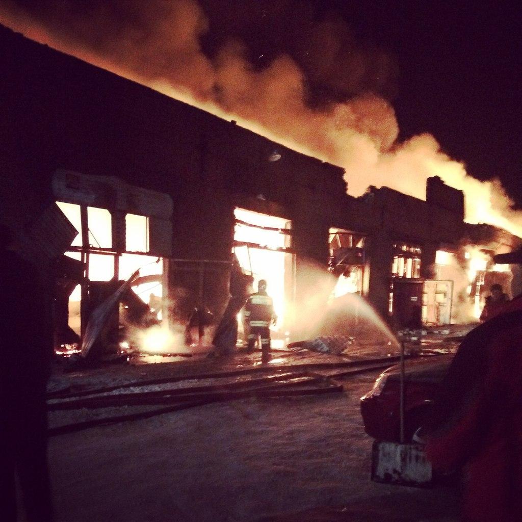 Пожар в Белорецке 25 января