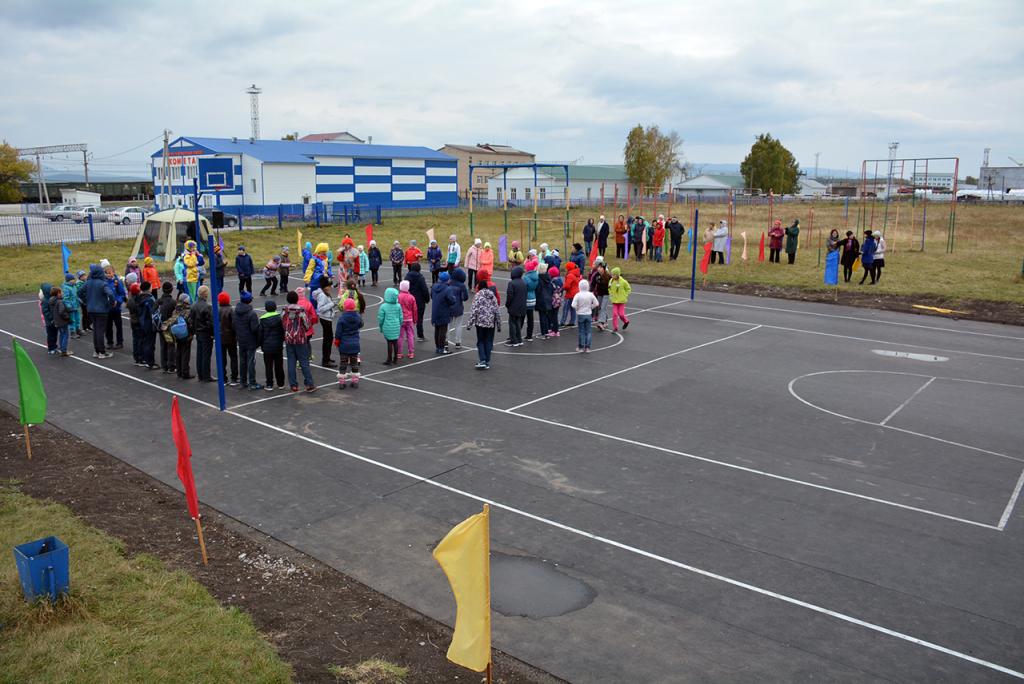 В Белорецком районе открыли спортивную площадку